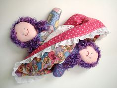 Topsy Turvy Handcrafted Doll OOAK Happy Face Sad Face Cloth Doll Flip Flop Rag Doll Turnabout Doll Upside Down Changeable Reversible Ragdoll