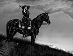 Lady Merreth's adventures take place in a fictional world of steel, leather, and gunpowder. Fictional World, Horses, Deviantart, Adventure, Lady, Art Work, Artist, Animals, Artwork