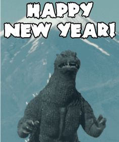 gameraboy:  Gojira wishes you all a Happy New Year!