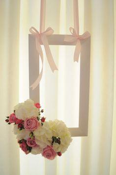 Vintage decoration by Bori Dekor. Frame  with flowers