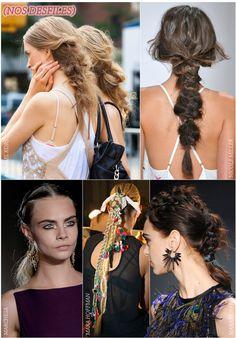 """Esse ano vimos algumas tendências capilares, digamos, exóticas! Lembram do Splashlight, que é um raio de luz invandindo seus cabelos? Ou até mesmo openteado meio rabo de shih-tzu? Pois bem, já que 2015 tá logo aí, noto um novo movimento: o cabelo de guerreira. Do que se trata? Lá fora chamam esse penteado de """"warrior […]"""