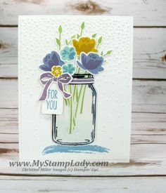 How do you get the Jar Of Love stems in the jar? So I wanted to make a jar of flowers, but I didn't want the stems to be over the top of the jar so I used a piece of stamped transparency to go over m
