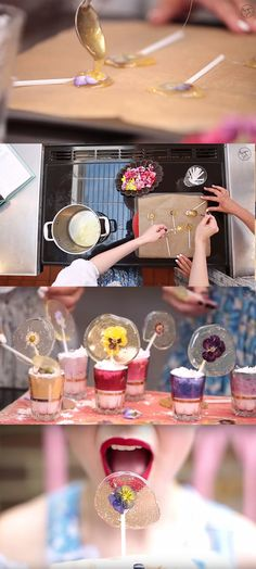 In this video, the Meringue Girls will show us how to make gorgeous and sweet edible flower lollipops in no time. They are perfect for wedding favors, last minute gifts or a great decoration for a party centerpiece! See video and written instructions here: http://gwyl.io/yes-you-can-eat-these-flower-lollipops/