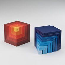 """Naef """"CELLA"""" red and blue"""