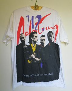Original Vintage 1992 U2 Tour shirt for Achtung Baby - Hanes Beefy Large 42-44 - just listed on ebay