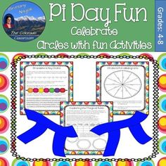 Pi Day Fun Activity will let you celebrate Pi Day this March with little effort and everything already prepared.  You get 20 activities to help you and your class explore circles and the magical ratio of pi.Choose from:Pi Day BuffetFun with Circles Word SearchSolving Circles CrosswordBracelets & Key ChainsPi MobileThe Great Paper Chain RacePi Day QuiltsSearching Pi for YourselfVoluminous TubesExploring Circumference & RadiusCircle ArtMoebius StripsMake a Bar Graph of Digits ... $3.14