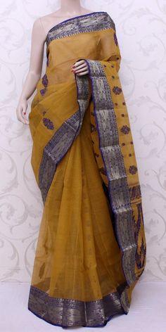 Bengal Handloom Tant Saree (Cotton) 13020 Handloom Saree, Silk Sarees, Bengal Cotton Sarees, Indian Fashion, Saree Fashion, Saree Blouse Neck Designs, Trendy Sarees, Saree Trends, Saree Models