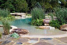 Schwimmteich neigung strand ähnlich natursteine