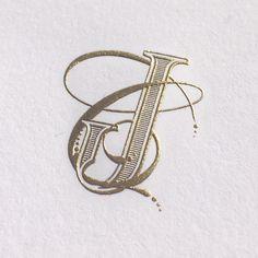 Gold engraved custom monogram - Ketchum + Merritt Wedding   Bell'INVITO Stationers
