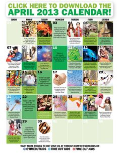 Download our April 2013 calendar of family events