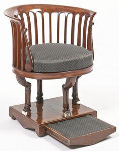 A Neoclassical mahogany armchair probably Vienna, circa 1810