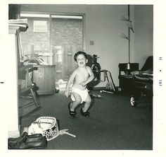 Rich dancing by gignomai, via Flickr.  1970's (clearly judging by the lamp in the corner!)