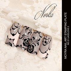 "196 Likes, 1 Comments - Moyra Nail Polish and Stamping (@moyra_nailpolish_and_stamping) on Instagram: ""Nail art with Moyra Stamping Plate No. 31 Lacelove 2  #moyra #nailart #stamping #plate #lacelove…"""