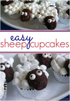 Easy Sheep Cupcakes | www.wineandglue.com