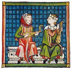 Tocadores de rabel (con plectro) representados nas Cantigas de Santa María cantiga 90