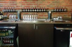 20 Tap Custom Draft Beer Tower Double T Style Black door TappedBeer