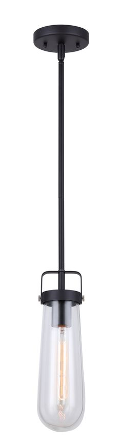 TATE collection 1-light pendant in black  IPL673A01BK