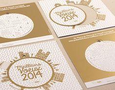 L'agence de communication Comète a été contactée par la mairie de Vienne en novembre 2013 pour la conception de sa carte de vœux sur le thème du patrimoine historique.