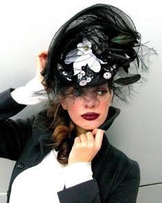 back in black #http://www.etsy.com/listing/31737766/hats-black-is-back-dita-von-teese