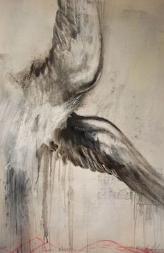 "If a tattoo artist could replicate this curving around my shoulder and flicking outwards...I'd get it done.(Saatchi Online Artist: Carl White; Charcoal, 2010, Drawing ""Swan Adagio"")"