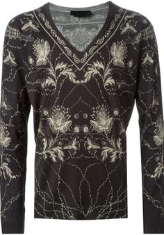alexander mcqueen floral and paisley intarsia sweater Black #alducadaosta #newarrivals #fw #fall #winter #men #fashion #style #accessories #apparel #alexandermcqueen