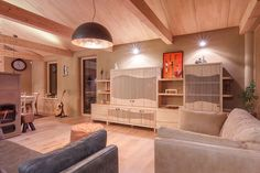 passivhaus   wood construction   lignotrend   living room   lots of wood and clay plaster   jablonove   slovakia