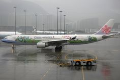 China Airlines, Airbus A330-300, B-18355, Welcome to Taiwan livery, Hong Kong International