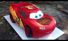 Bolo de aniversário 3D Relâmpago McQueen Festa Carros Disney Pixar