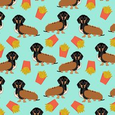 Petfriendly on Spoonflower has the cutest dachshund themed fabric! You know the holidays are right around the corner!