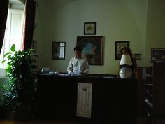 Always anxious to please: Antonio Mansi and assistant, Hotel Parsifal, Ravello, Italy