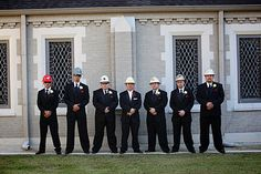 Wedding Photography - Roughnecks in tuxedos... and hard hats :)