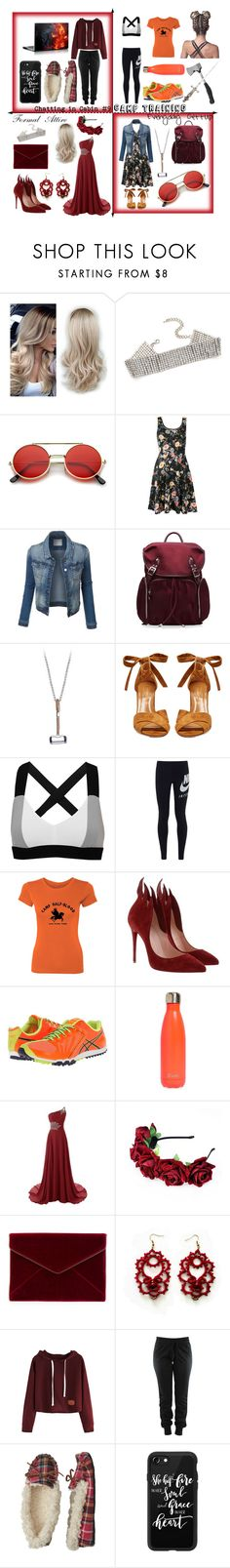 """""""Daughter of Hephaestus"""" by tiffany-du-plessis ❤ liked on Polyvore featuring ZeroUV, M Z Wallace, Marvel, Aquazzura, No Ka'Oi, NIKE, Christian Louboutin, Asics, S'well and Coleman"""