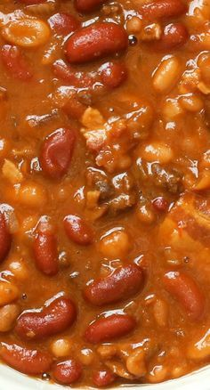 The Best Slow Cooker Baked Beans ~ This recipe really is outstanding!
