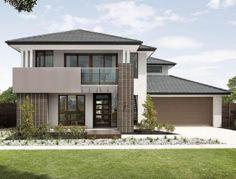 Henley emperor series somerton facade home New Home Designs, Home Design Plans, Home Interior Design, House Stairs, Facade House, Country Patio, Luxury Floor Plans, Townhouse Designs, Front Door Design