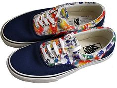 b6915492473 Vans Era blue Marble 2 tone muticolor lace up canvas skateboard trainers  shoes (UK 9   USA 10)  Amazon.co.uk  Sports   Outdoors