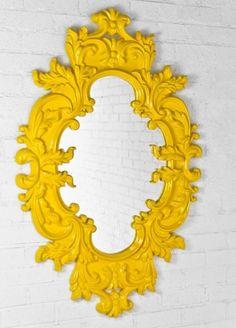 Boca Mirror. Fun & happy & yellow:)