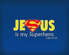 JESUS SUPERMAN T SHIRT IRON ON TRANSFER
