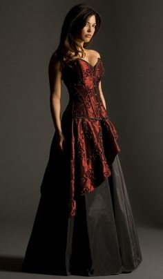 9d6aa830fc Paradise - Vollers Corsets Would love a dress with just the red and black  layer. Drop the underskirt  )