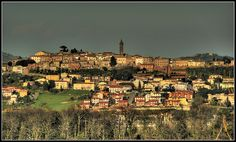 Peccioli. Best little town in Tuscany. And they mean little.