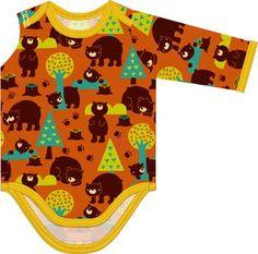 Matériel:  * Jersey -   Lillestoff - Bears  (Largeur du tissu: 150 cm) ( body )   50 cm ( Taille 3 mois - 6 mois )  ...