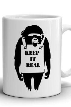 Boyfriend Gift/Banksy mug/Сoffee mug/Work mug/Office mug/Banksy print/Best gift/Birthday gift/Stylish coffee mug/For Him/Keep it real mug Mug Crafts, Keep It Real, Banksy, Boyfriend Gifts, Different Colors, No Response, Birthday Gifts, Coffee Mugs, Print Design