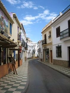 Bought pottery on this street.......Nerja, Spain