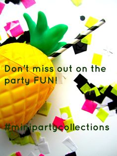 Mark your calendars! Mini Party Collections launches Monday, July 27. Find us on Facebook.