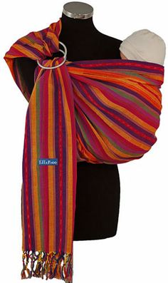 Ellaroo Handwoven Cotton Ring Sling - Lola Mothers' - great fashion statement and looking cool Ring Sling, Baby Sling, Cotton Pads, Baby Hacks, Cool Baby Stuff, Baby Wearing, Baby Gifts, Hand Weaving, Maternity
