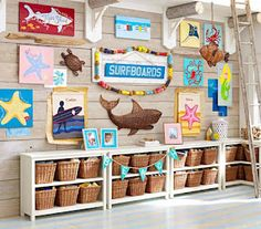 #incy interiors #dream children's room   Love the panel wall and the storage for toys