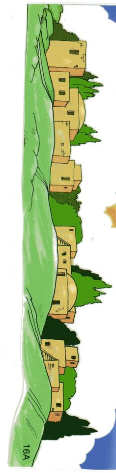 Pueblo de Belén Sunday School Activities, Sunday School Lessons, Sunday School Crafts, Bible Object Lessons, Bible Lessons For Kids, Bible Crafts, Bible Art, Bible Quiet Book, Bible Cartoon