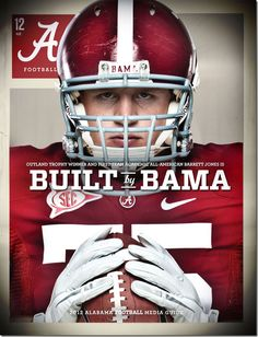 2012 University of Alabama Media Guide Cover - Barrett Jones edition