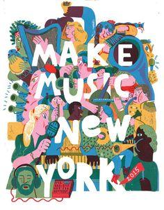 Make Music New York - Summer 2015 | ILLUSTRATIONS. | Pinterest