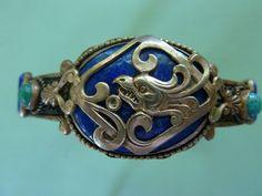 Neiger Czech Glass Metal Chinese Dragon Armlet