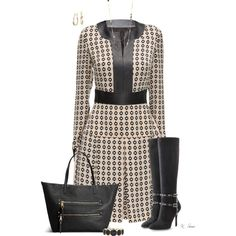 A fashion look from October 2015 featuring Lattori dresses, Valentino boots and Avenue tote bags. Browse and shop related looks.